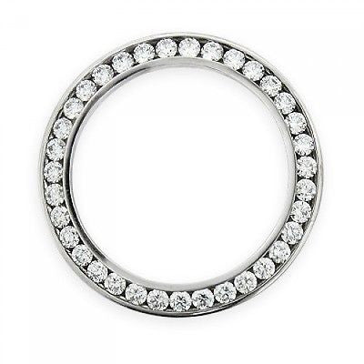 Diamond Bezel for Watch Stainless Steel Round Cut Diamond G-H SI2 1 1/2 ct 36mm