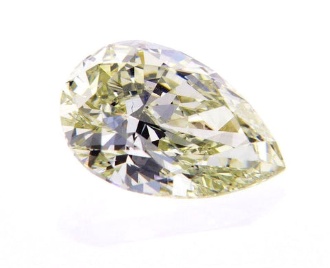 GIA Certified Pear Cut Loose Diamond 1.37 CT Rare Fancy Light Green Yellow SI1