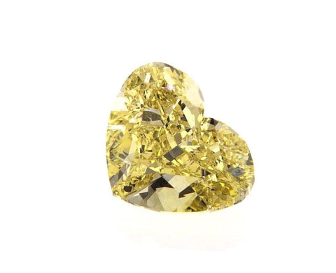 GIA Certified Natural FANCY YELLOW LOOSE DIAMOND Heart Cut Cut 3.01 Ct SI2