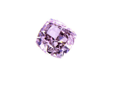 GIA Certified Natural Cushion Rare Fancy Purplish Pink Diamond 0.32 Carat VS1