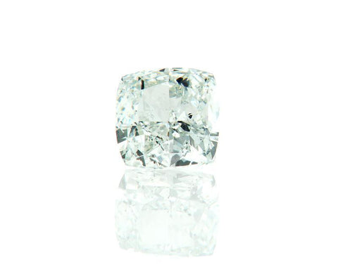 GIA Certified Natural Cushion Cut Fancy Faint Blue Green Loose Diamond 0.72CT