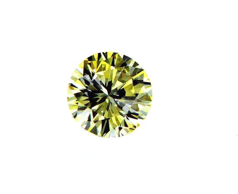 Fancy Yellow Round Cut VS2 Loose Diamond 0.44 Carat GIA Certified Natural Rare