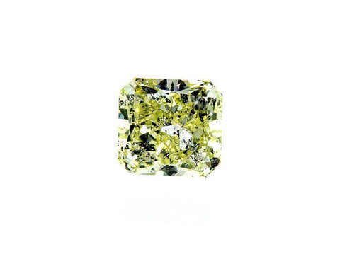 GIA Certified Rare Fancy Yellow Green Radiant Cut Natural Loose Diamond 1.02 cts