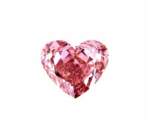 GIA Certified Heart Shape Cut Fancy Intense Pink Natural Diamond 0.81 CT SI1
