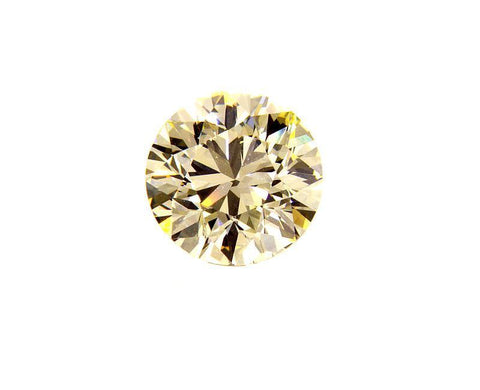 GIA Certified Natural Round Cut Loose Diamond 0.80 CT Light Yellow Color VVS2