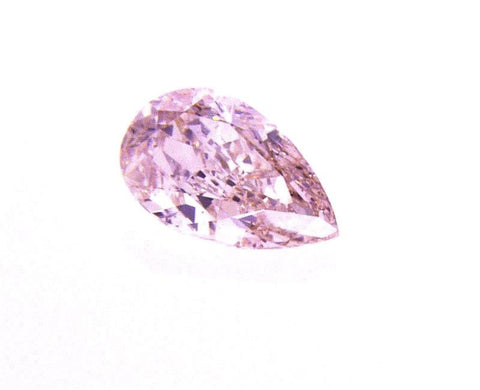 GIA Argyle Certified Natural Pear Cut Rare Fancy Light Pink Diamond 0.42 CT SI1