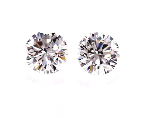 GIA Certified Natural Round Cut Diamonds Matched Pair 1.40 CTW for Diamond Studs