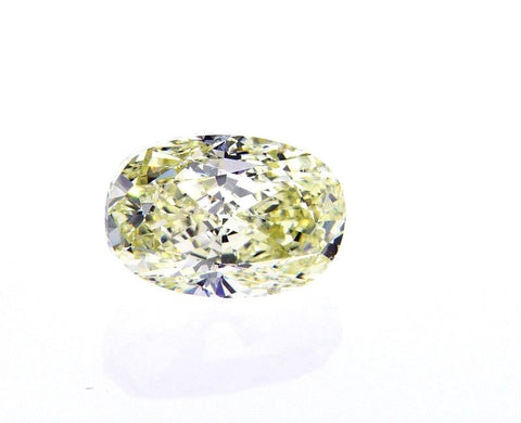 Natural Oval Cut GIA Loose Diamond GIA 3.01 Carat Light Yellow Color VS1