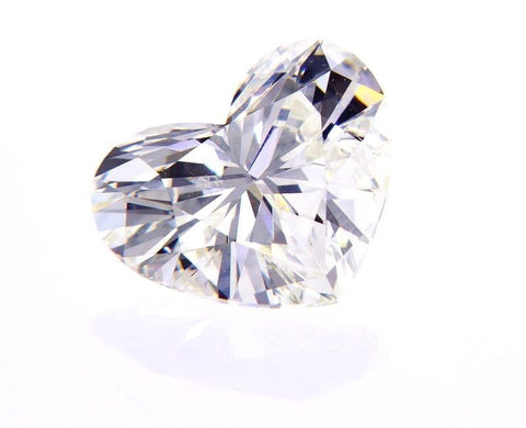 GIA Certified Heart Cut Natural Loose Diamond 0.73 Carats H Color SI2 Clarity