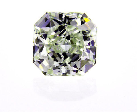 GIA Certified Radiant Cut Rare Fancy Yellow Green Loose Diamond VS2 1.74 cts