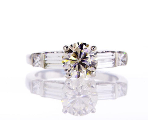 Diamond Engagement Ring 2 CTW H Color SI1 Certified Natural Round Cut 14k Gold