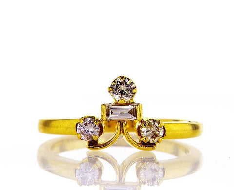 Natural Round Cut DIAMOND RING 0.37 CT G Color VS1 Clarity $1,000