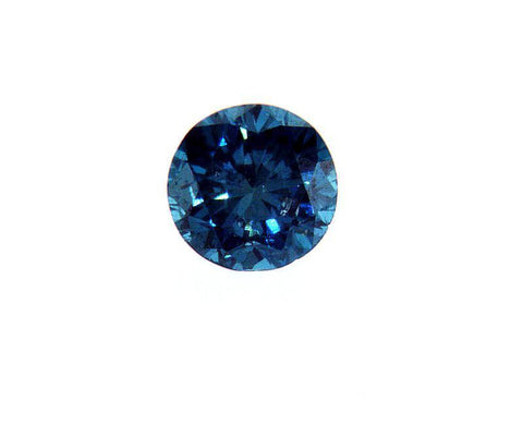 GIA Certified Round Brilliant Loose Fancy Blue Diamond 0.26 Carat SI1 Clarity