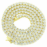 GAL Certified 14k Yellow Gold Diamond Tennis Necklace 11 CT G-H SI1 4.75MM 18""