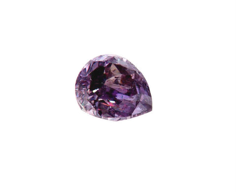 GIA Certified Natural Pear Cut Fancy Purple Pink Loose Diamond 0.56CT