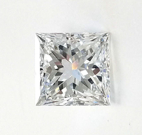 GIA Certified Princess Cut Natural Loose Diamond 1.01 Carats E Color VS2 Clarity