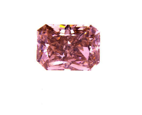 GIA Certified Natural Loose Diamond Radiant Cut Fancy Deep Orangy Pink 0.56 ct