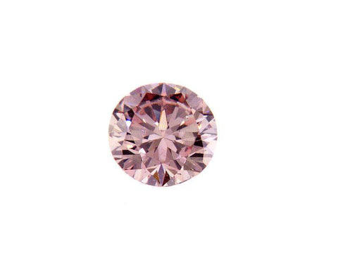GIA Argyle Certified Natural Round Cut Fancy Orangey Pink Diamond 0.22 CT SI1