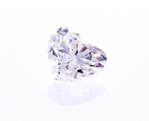 GIA Certified Heart Cut Natural LOOSE DIAMOND 1/2 Carats D Color SI2 Clarity