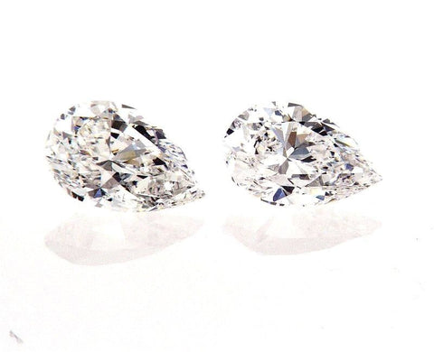GIA Certified Natural Pear Cut Diamonds Matched Pair 1.53 CTW for Diamond Studs