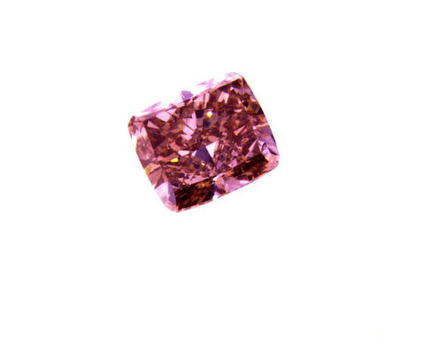 GIA Certified Natural Cushion Fancy Intense Deep Orangy Pink Diamond 0.31 Carat
