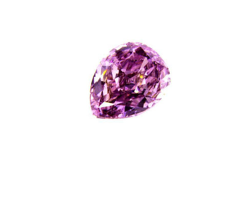 GIA Certified Natural Pear Cut Fancy Intense Pink Purple Loose Diamond 0.32 Ct