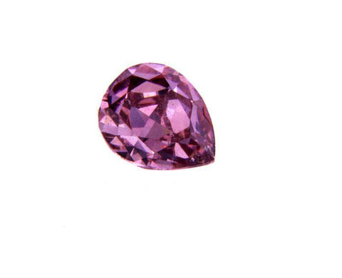GIA Certified Round Pear Cut Fancy Intense Pinkish Purple Loose Diamond 0.33 CT
