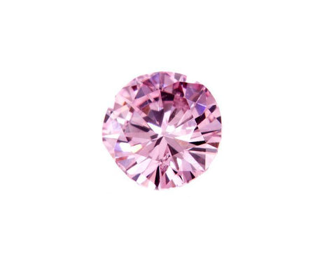 GIA Certified Rare Natural Round Cut Fancy Pink Loose Diamond 0.19 CT I1