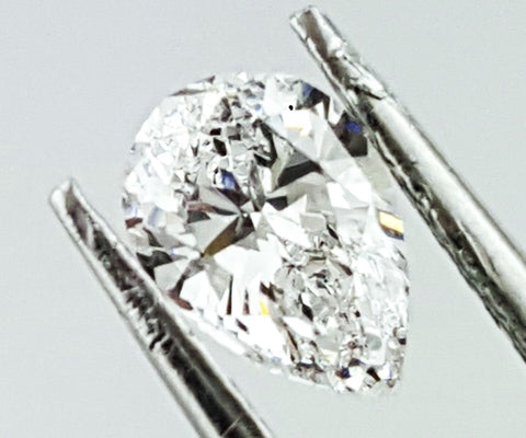 GIA Certified Natural Pear Cut Loose Diamond 0.71 Carats D Color SI1 Clarity