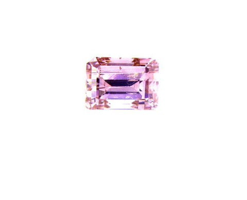 GIA Certified Natural Emerald Cut Fancy Intense Purple Pink Loose Diamond .27 Ct
