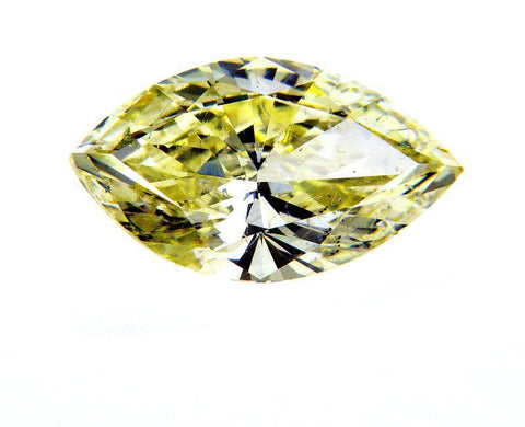 Natural Marquise Cut Loose Diamond 1.51 Carats Fancy Yellow Color SI1 Clarity