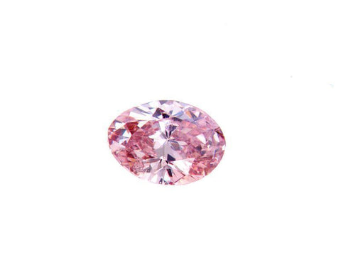 GIA Certified Natural Rare FANCY PINK Oval Loose Diamond 0.18 Carats SI2