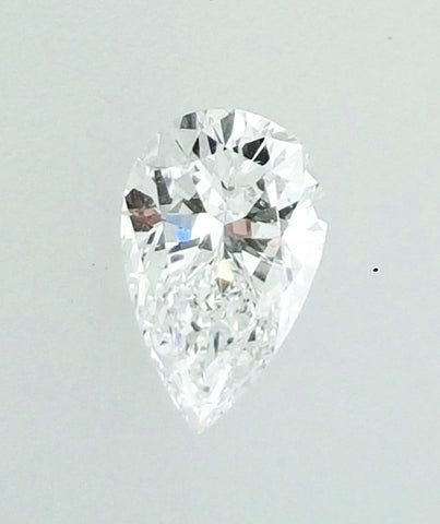 GIA Certified Natural Pear Cut Loose Diamond 0.77 Carats D Color SI1 Clarity