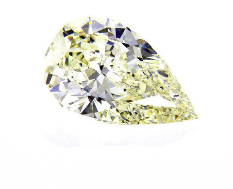 GIA Certified Natural Pear Cut Loose Diamond 3.07 Carats S T Color VS2 Clarity