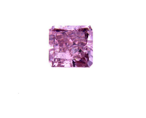 GIA Certified Natural Radiant Cut Fancy Intense Purple Pink Loose Diamond .36 Ct