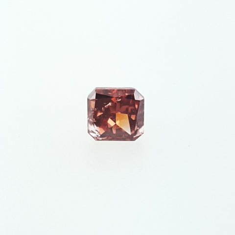 GIA Certified Natural Radiant Cut Fancy Deep Brownish Pink Diamond 0.72 Cts I1
