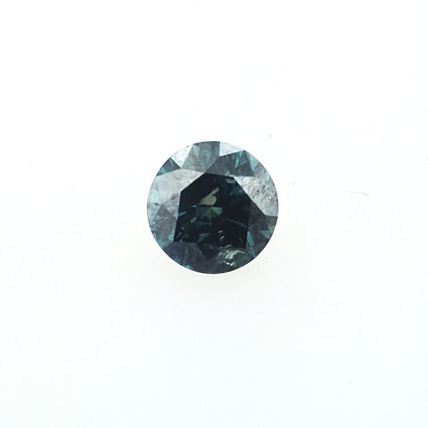 GIA Certified Round Brilliant Loose Rare Fancy Blue Diamond 1 CT I1 Clarity