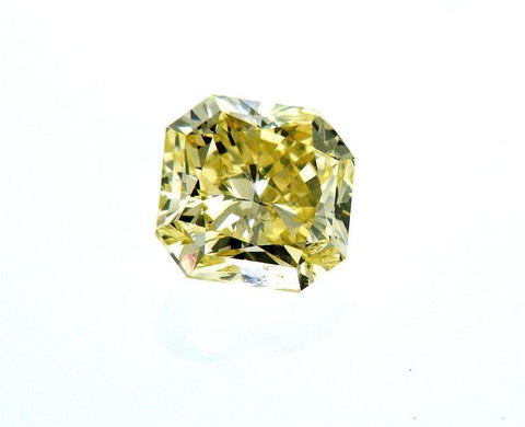 GIA Certified Natural Radiant Cut Rare Fancy Green Yellow Loose Diamond 0.60 CT
