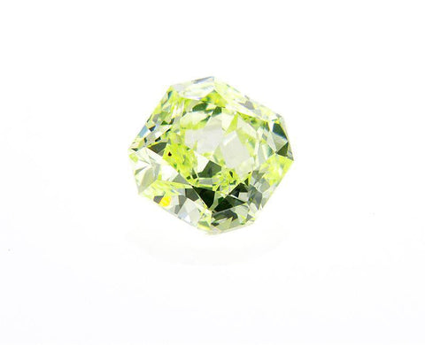 GIA Certified Natural Radiant Cut Fancy Yellow Green 0.61 carat loose Diamond