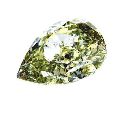 GIA Certified Rare Natural Fancy Green Pear Cut Diamond 2.37 Ct SI2 Clarity