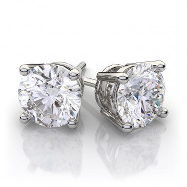 Diamond Stud Earrings in 14k White Gold (3/4 ct. tw.