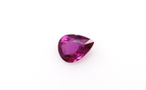 Natural Ruby Loose Stone Pear Cut 0.75 CT Transparent Red Color Certified