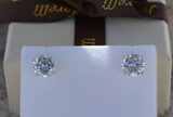 1CT Diamond Studs Earrings 14K White Gold GIA Certified Natural Round Cut
