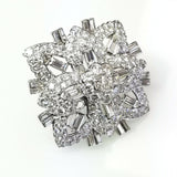 Art Deco Vintage Estate Antique Platinum 12 CT Natural Diamonds Broche / Pendant