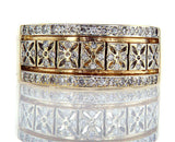 Diamond Band 14k Gold Ring Natural Round Brilliant 0.60 CTW G Color SI2 Clarity