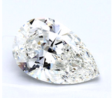 Huge 3.17 CT Diamond I Color VS2 Clarity Natural Pear Cut Loose GIA Certified