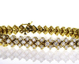 10 CT Diamond TENNIS BRACELET F/VS2 14K Yellow Gold Natural Round Cut Brilliant