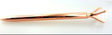 1 Rose Gold Pen with Big Diamond/Crystal,Metal Ballpoint Pen,Rose Gold Black Ink
