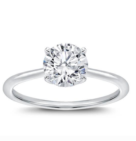 Diamond Engagement Ring Natural Round Cut 0.72 CT J  VVS1 Clarity GIA Certified