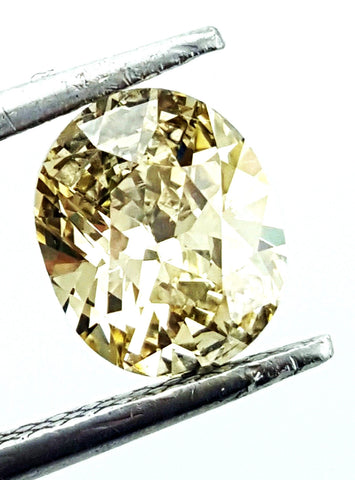 GIA Certified Natural Oval Cut Fancy Yellow Color Loose Diamond 1 CT SI2 Clarity